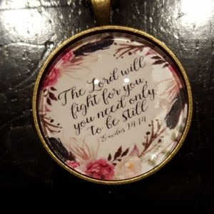 The Lord will fight for you pendant neckla…